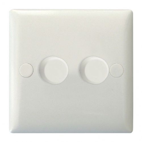 Varilight HO4W Value Polar White 2 Gang 2-Way Push-On/Off Dimmer 40-250W V-Dim